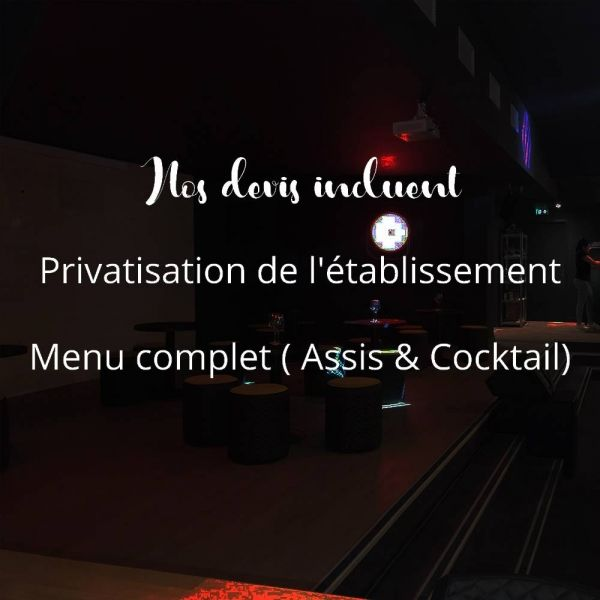 Privatisation -  Le Réservoir - Restaurant Bordeaux